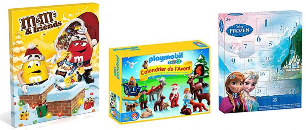 Calendriers de l'Avent pour enfants, jouets, bonbons