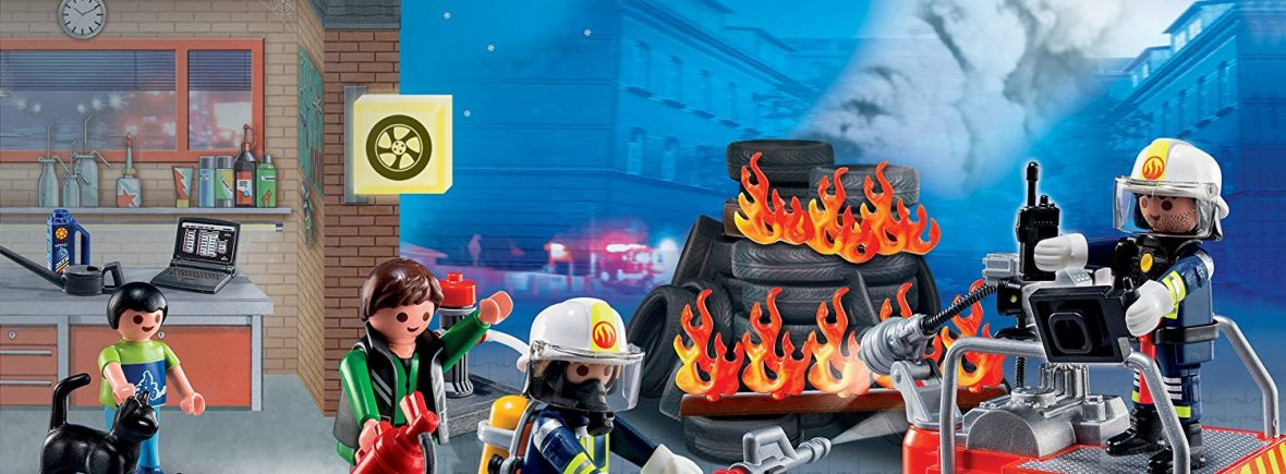 Calendriers de l'avent policiers pompiers Playmobil