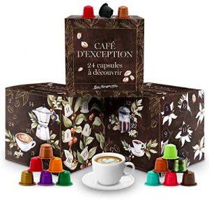 Calendrier de l'Avent capsules de cafés bio Nespresso