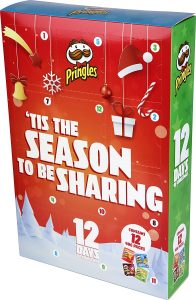 Mini calendrier de l'Avent Pringles