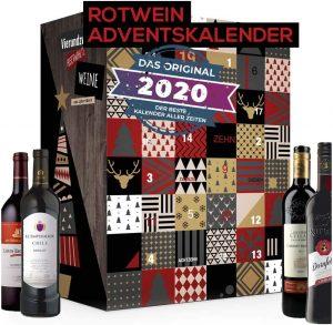Calendrier de l'Avent vins rouges 2020 Boxiland
